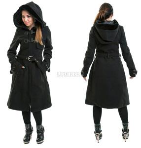 4a3e9fb9458 Dámský kabát Vixxsin Innocent Clothing- MoanaCoatblk 2 600 Kč